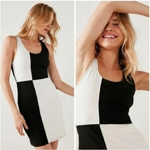 French Atmosphere Color Block Dress